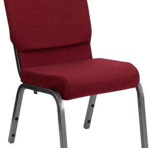 SILVER VEIN STEEL HEAVY DUTY CHURCH CHAIR CA117-RED FABRIC