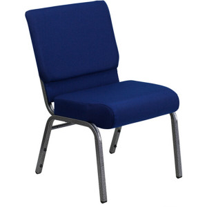 SILVER VEIN STEEL HEAVY DUTY CHURCH CHAIR CA117-BLUE FABRIC