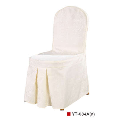 CHEAP WHITE COLOR CHAIR COVER RUFFLED SILK DESIGN WITH BACK BOTTON