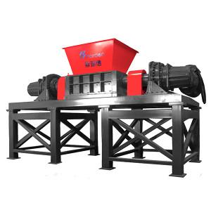 Harden Two shaft solid waste shredder For Shredding MSW Metal scrap Industrial waste Model TD812