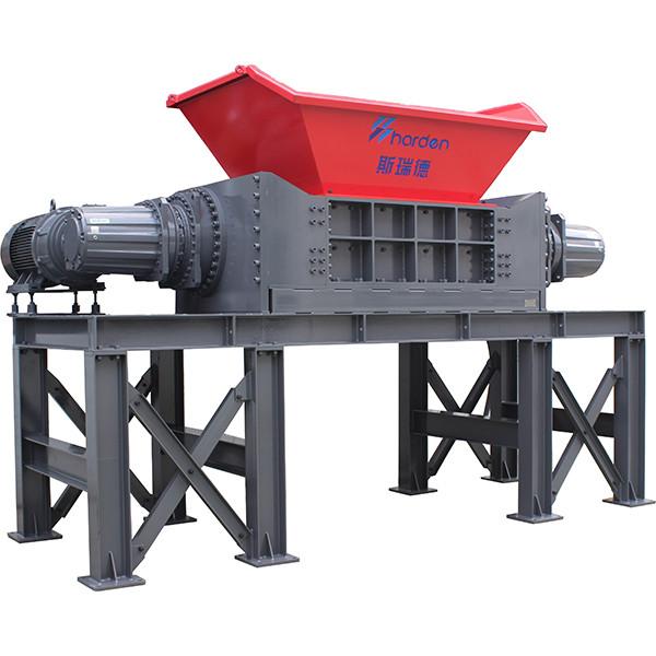 Harden® Two Shaft Solid Waste Shredder for MSW Metal Scrap Rigger Wire  Industrial Waste  TD912