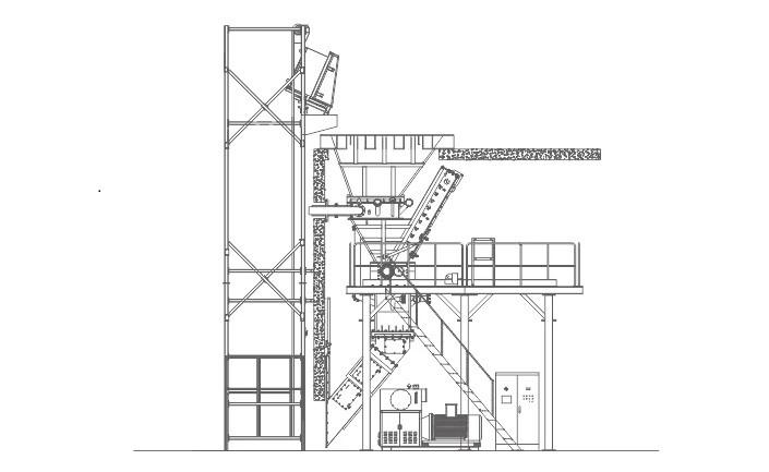 Sistema de trituración con sistema de extinción de incendios