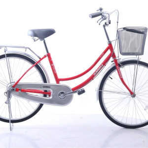 Factory 24 inch city steel  lady bike with basket