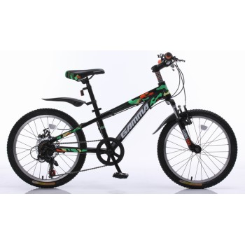 20 mtb Steel frame suspension fork for kid V brake