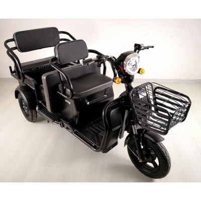 cheap three wheel disabled electric tricycle adults passenger seat 3 wheel tricycle 48V 650W 12 tubes controller