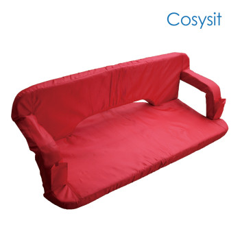 Cosysit double fold in half beach chair for two person with armrest and back support