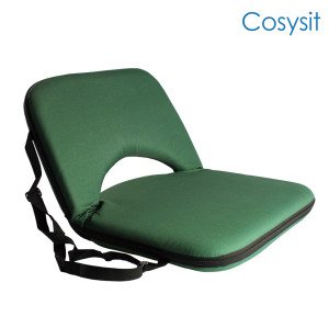 Cosysit Multi-angle Hiking foam cuadrado legless silla de piso de playa, tela Camo