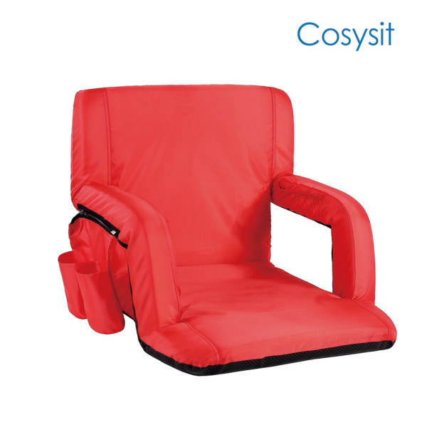 Cosysit portable reclining folding floor chair with armrest