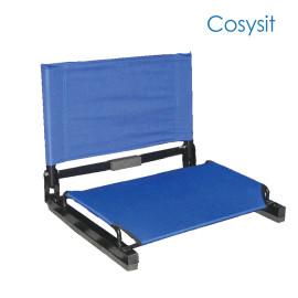 CosySit stadium bleacher seat chairs with with backs and cushion,folding & portable,blue,pink,rose red,black