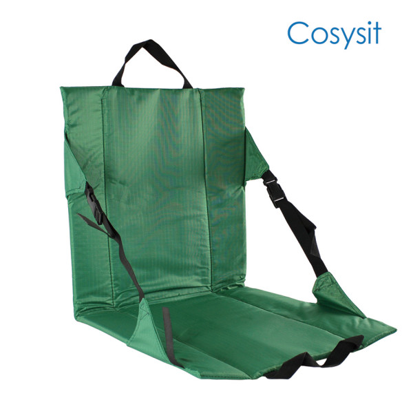 CosySit heavy-duty stadium chair seat cushion beach mat with extra straps