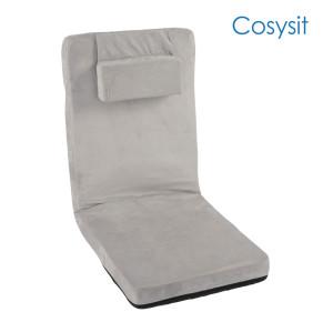 CosySit Classic silla de piso gris claro con almohada