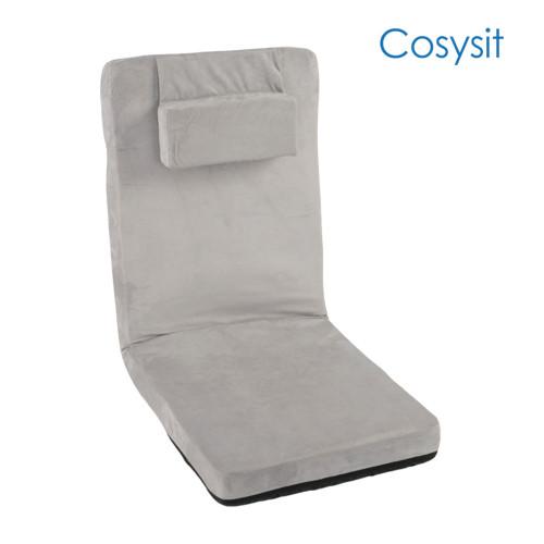 CosySit 베개가있는 클래식 한 밝은 회색 바닥 의자