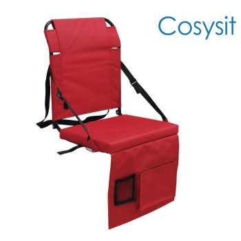 Cosysit stadium folding chair with side pocket