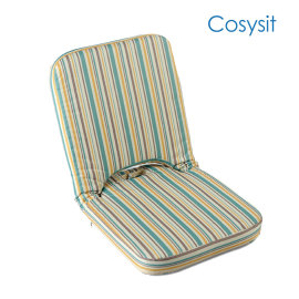 Cosysit yoga folding floorchair with stripe pattern