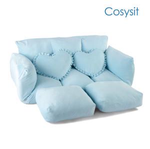Cosysit Light Blue Frischer Breeze faltender Sofastuhl mit herzförmigem Kissen