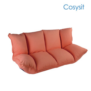 Cosysit Vital orange Folding floor sofa with back support and armrest