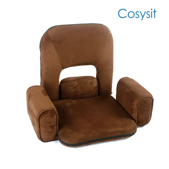 Cosysit suede fabric Back hollow recliner floor chair