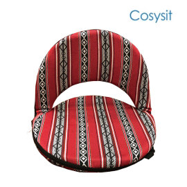 Cosysit saudi fabric folding round adjustable floor chair