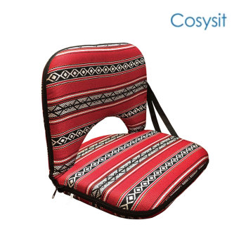 CosySit saudi fabric folding floor meditation chairs with back support