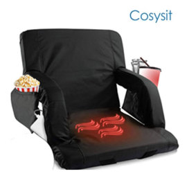 Cosysit waterproof portable heated bleacher stadium heating seating chair hot sale on amazon