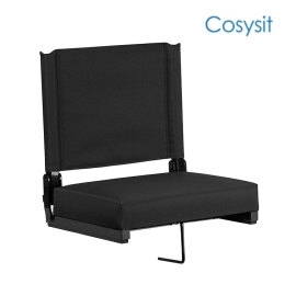 Cosysit new floor bleacher seating chair folding adjustable stadium chairs seat warmers folding with bleacher hook