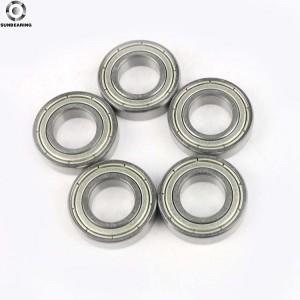 SUNBEARING Rodamiento rígido de bolas 6901 ZZ 2RS Plata 12 * 24 * 6 mm Acero al cromo GCR15