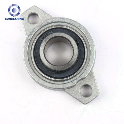 SUNBEARING Cojinete de bloque de almohada UCFL204 Gris 113 * 60 * 25.5 mm Acero al cromo GCR15