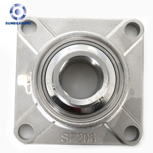 SF206 Stainless Steel Pillow Block Bearing With Stainless Steel Housing SUN BEARING