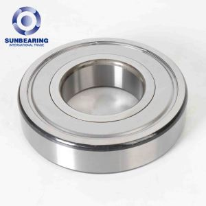 SUNBEARING Deep Groove Ball Bearing 6317 Silver 50*180*41mm Stainless Steel GCR15