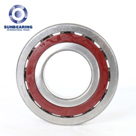 SUNBEARING Angular Contact Ball Bearing 7314C Red and Silver 70*150*35mm Chrome Steel GCR15
