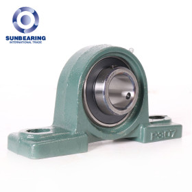 SUNBEARING Pillow Block Mounted Bearing UCP307 Green 35*48*210mm Stainless Steel GCR15