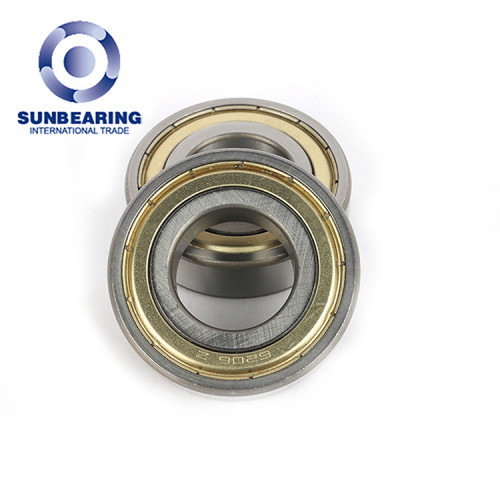 SUNBEARING الكرة الاخدود العميق اضعا 6206 ZZ الأصفر والفضي 30 * 62 * 16MM الفولاذ المقاوم للصدأ GCR15