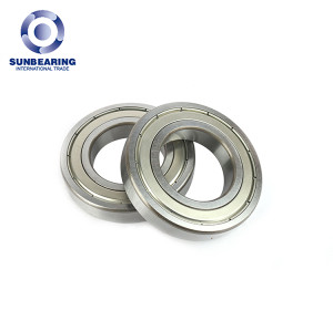 SUNBEARING Deep Groove Ball Bearing 6211 Silver 55*100*21mm Chrome Steel GCR15