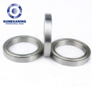 SUNBEARING Deep Groove Ball Bearing 6807 ZZ Silver 35*47*7mm Chrome Steel GCR15