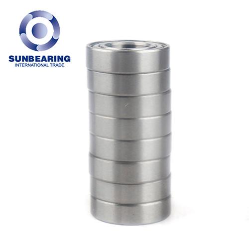 SUNBEARING الكرات الأخدود العميق 6802 2RS الفضة 15 * 24 * 5MM الكربون الصلب