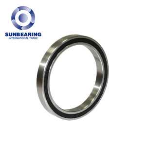 SUNBEARING Deep Groove Ball Bearing 6816 Silver 80*100*10mm Chrome Steel GCR15