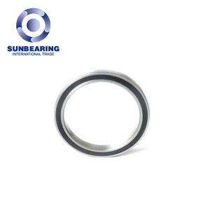 SUNBEARING Deep Groove Ball Bearing 6818 Silver 90*115*13mm Chrome Steel GCR15