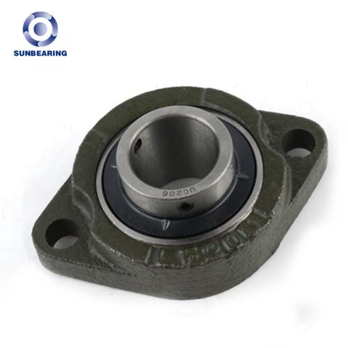 Bloque de cojinete de la almohadilla de sol UCFL206 verde oscuro 30 * 62 * 38.1 mm acero inoxidable GCR15