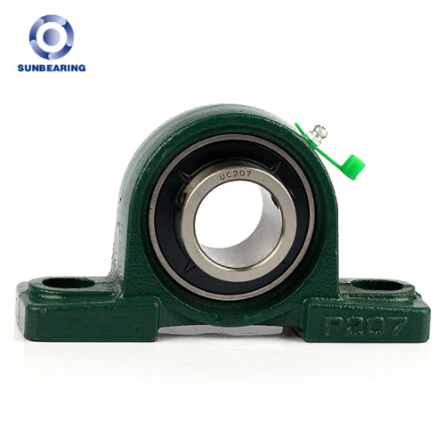 Bloque de almohada SUNBEARING UCP207 verde 35 * 47.6 * 167 mm cromo acero GCR15