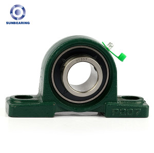 SUNBEARING Pillow Block Bearing UCP208 Green 40*49.2*184mm Chrome Steel GCR15