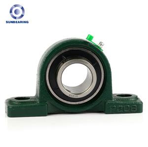 SUNBEARING Pillow Block Bearing UCP210 Green 50*57.2*200mm Chrome Steel GCR15