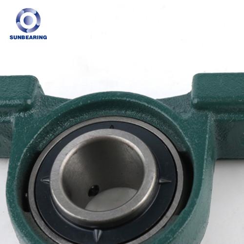 Bloque de almohada SUNBEARING UCP206 verde 30 * 42.9 * 165 mm acero cromado GCR15