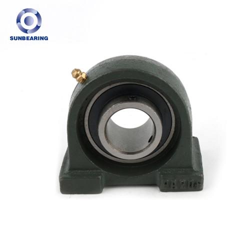 Bloque de almohada SUNBEARING rodamiento UCPA206 verde 30 * 42.9 * 94 mm acero cromado GCR15