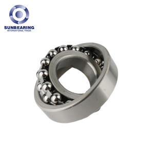 SUNBEARING Self-aligning Ball Bearing 2312 Silver 60*130*46mm Stainless Steel