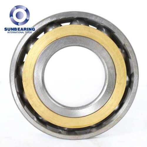 SUNBEARING Rodamiento de bolas de contacto angular 7204C Plata 20 * 47 * 14 mm Acero cromado GCR15
