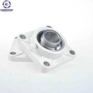 Bloque de almohadilla SUNBEARING F207 blanco 42.9 * 119 * 35 mm de plástico y acero inoxidable