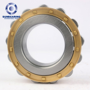 SUNBEARING Цилиндрический роликоподшипник NF307 Желтый 35 * 80 * 21 мм Хромированная сталь GCR15