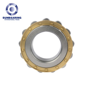 SUNBEARING Cylindrical Roller Bearing NF307 Yellow 35*80*21mm Chrome Steel GCR15
