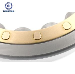 SUNBEARING Цилиндрический роликовый подшипник NU207EM Серебро 35 * 72 * 17 мм Хромированная сталь GCR15