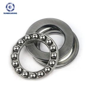 SUNBEARING Упорный шарикоподшипник 51202 Серебро 15 * 32 * 12 мм Хромированная сталь GCR15